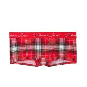VS red plaid Boyshort shortie panty